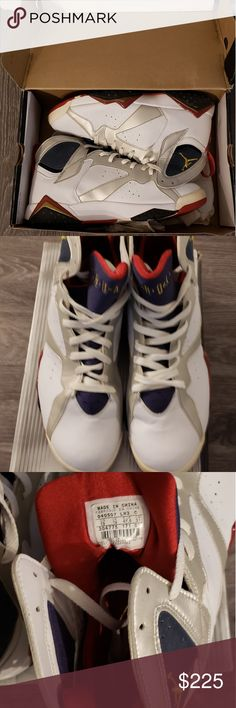check out 57187 89f5d Shop Men s Jordan size 13 Sneakers at a discounted price at Poshmark.  Description  Air Jordan 7 Retro  Olympic  2004 Size Sold by Fast delivery,  ...