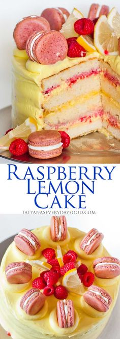 Raspberry Lemon Cake with video recipe {Tatyana's Everyday Food}