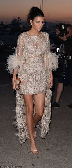 Golden girl:Kendall Jenner was determined to dazzle once more while partying with mum Kri...