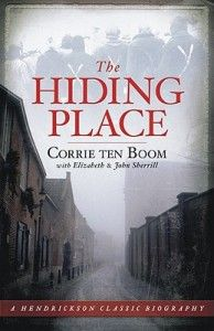 The Hiding Place is the story of Corrie Ten Boom, a Dutch woman best known as a participant in the Dutch underground during the second world war whose home had a hidden room to shelter those fleeing Hitler's regime.