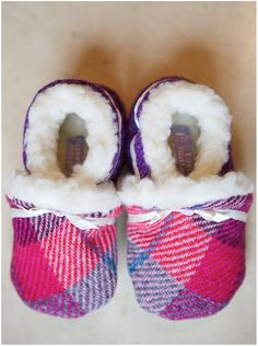 Gorgeous Slippers for Babies and Toddlers by Tartan Butterfly