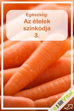 Narancssárga és a béta-karotin: fiatalon tart. A narancssárga zöldségek és gyümölcsök a béta-karotinnak, vagyis az A-vitamin provitaminjának természetes forrásai. Ettől olyan narancsos színűek. Megvédi sejtjeinket a szabad gyökök roncsoló hatásától és a káros UV-sugárzástól. Segíti az egyenletes, szép barnulást, lelassítja a bőr öregedését. Good To Know, Anti Aging, Paleo, Herbs, Vegetables, Healthy, Food, Per Diem, Health