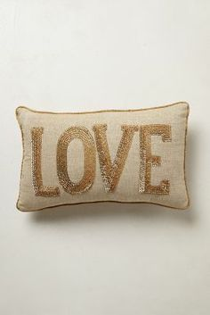 Gift Style: Shimmered Sentiments Pillow