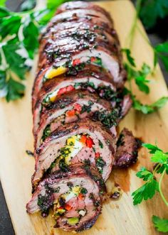 Stuffed meat rolls are not only delicious but also pretty easy to prepare. Exactly what you need when you are preparing for a dinner party, let alone Chris