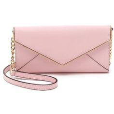 Rebecca Minkoff Cleo Wallet On A Chain - Baby Pink