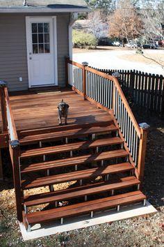 Building a Concrete Foundation for your Deck Steps http://extremehowto.com/building-a-concrete-foundation-for-your-deck-steps/