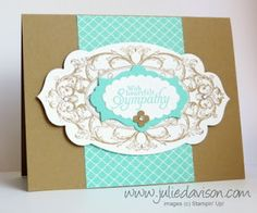 Julie's Stamping Spot -- Stampin' Up! Project Ideas Posted Daily: Layered Labels Sympathy Card