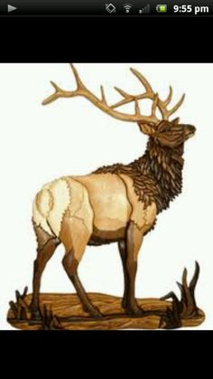 Original woodworking patterns, plans and wood art murals by intarsia artist Kathy Wise. Intarsia Wood Patterns, Wood Carving Patterns, Intarsia Woodworking, Woodworking Patterns, Woodworking Shop, Woodworking Plans, Elk Silhouette, Wood Images, Scroll Saw Patterns