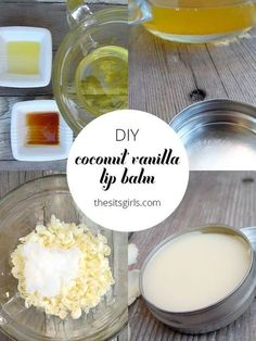 Lip Balm DIY coconut vanilla lip balm is easy to make and all natural. With this recipe, you will never need to buy lip balm again.DIY coconut vanilla lip balm is easy to make and all natural. With this recipe, you will never need to buy lip balm again. Homemade Lip Balm, Diy Lip Balm, Homemade Deodorant, Homemade Vanilla, Diy Cosmetic, Diy Beauté, Diy Spa, Lip Balm Recipes, Homemade Cosmetics