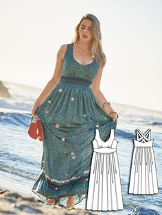 Gorgeous Boho Dress Sewing Pattern | Find more inspiration to sew your own dresses at http://www.sewinlove.com.au/tag/dress/