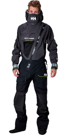 2019 Helly Hansen Aegir Ocean Survival Drysuit Ebony 31706 - Drysuits - All Tactical Wear, Tactical Clothing, Ski Fashion, Mens Fashion, Concept Clothing, Sailing Jacket, Snow Outfit, Sports Uniforms, Future Clothes