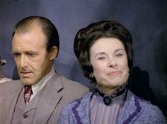 Katherine MacGregor and Richard Bull on Little House on the Prairie
