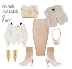 """""""Neutral Chic Goddess"""" by quoise on Polyvore featuring Burberry, Love Moschino, Hueb and Gemma Simone"""