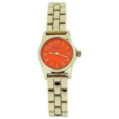 Reflex Ladies Analogue Orange Dial Yellow Tone Metal Bracelet Strap Watch LB109 Cool Watches, Rolex Watches, Metal Bracelets, Women Brands, Orange, Yellow, Fashion Watches, Bracelet Watch, Gifts For Her