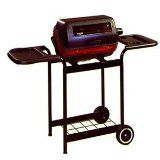BSB Stores - Home & Garden : Meco 9359W Deluxe Electric Cart Grill with Rotisserie, Satin Black at bsbstores.com