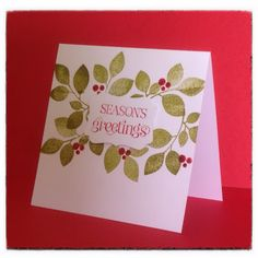 Stampin Up, Curly Cute stamp, Paper Smooches, Xmas cards