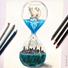 """""""Running Out Of Time"""" a beautiful drawing by @_david_art #Designspiration #art - View this on http://ift.tt/1LVCgmr"""