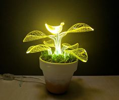 """Unique Housewarming Indoor Plant Lamp - Desk Lamps - """"Are you someone seeking low-maintenance gardening, but still want to have all the perks and pride that comes along with having a green thumb? In …    Read More »  #Bedroomdecor #Bedside #Concept #Industrial #Lamp #Led #Lightfixture #Lighting #Lightingdesign #Tablelamp"""