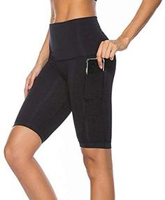 Willit Womens Active Yoga Lounge Bermuda Shorts Workout Running Shorts with Pockets