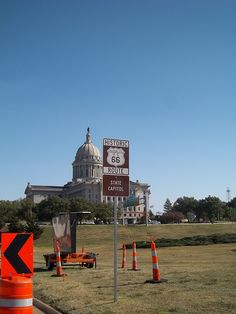 Route 66 Landmark: Oklahoma State Captiol
