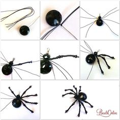 Beading Kit Beaded Spider The post Beading Kit Beaded Spider appeared first on PINK DiY. Beading Kit Beaded Spider The post Beading Kit Beaded Spider appeared first on PINK DiY. Beaded Crafts, Beaded Ornaments, Wire Crafts, Jewelry Crafts, Halloween Schmuck, Halloween Jewelry, Halloween Crafts, Wire Jewelry, Beaded Jewelry