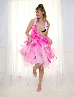 Made to Order Pink Flamingo Costume Dress One of by WearTheCanvas
