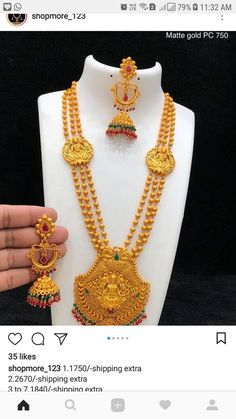 Engagement & Wedding Ethnic Goldtone Indian Wedding Necklace Earring Set Temple Jewelry-bns17-par Fine Quality
