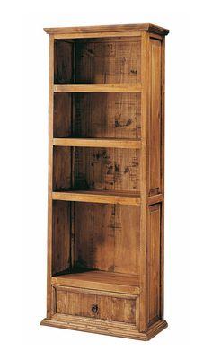 Librerias de madera natural BOOKSTORE. Estilo y calidad Shelf Furniture, Wood Pallet Furniture, Home Decor Furniture, Rustic Furniture, Small Space Interior Design, Interior Design Living Room, Kitchen Interior, Bookshelves, Bookcase