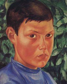 Kuzma Petrov-Vodkin: Portrait of a boy. 1913.