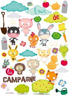 Les Contemplatives, Sticker enfants - L'air de la campagne par Bérengère design
