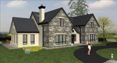 irish house plans two storey . Split Level House Plans, Square House Plans, Metal House Plans, Dormer House, Dormer Bungalow, Modern Bungalow Exterior, Dream House Exterior, Bungalow Haus Design, House Design