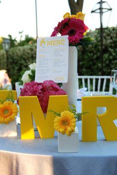 tavolo sposi colorato