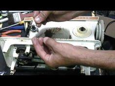 Ajustar a caixa de bobina para melhorar a qualidade do ponto na máquina de costura - YouTube