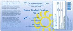 Dr. Ron's Bovine Tracheal Cartilage Label