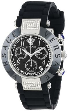 Versace Women's 95CCS91D008 S009 Reve Ceramic Stainless Steel Chronograph Diamonds Watch