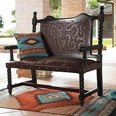 Spanish style – Mediterranean Home Decor Southwestern Home Decor, Mexican Home Decor, Southwestern Decorating, Southwest Style, Colonial Furniture, Western Furniture, Farmhouse Furniture, Furniture Redo, Spanish Style Homes