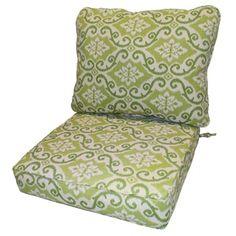 Clara Wicker Outdoor Arm Chair Cushion/ Throw Pillow Set with Sunbrella Fabric - 12920048 - Overstock.com Shopping - Big Discounts on Outdoor Cushions & Pillows