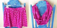 Como hacer una bufanda con una falda sin máquina de coser
