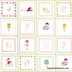 Sew Stitchy Panel by Aneela Hoey for Moda Fabrics 18540-11