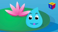 Water cycle for kids educational cartoon for children. Water droplet's a...