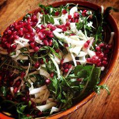 Pomegranates and Fennel #Salad #raw #vegan #organic #EatSeasonally