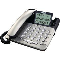 Corded Desktop Phone Large Keypad Caller Id Office Home Telephone Easy Use