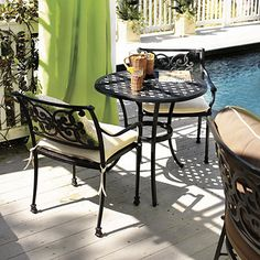 Amalfi 3-Piece Cafe Set by Ballard Designs.  Would love this for our front porch!