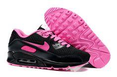 best website 1b38a 392c4 CSAD510 Kvinder Nike Air Max 90 Premium EM kører Sko Sort Pink va25n8  1