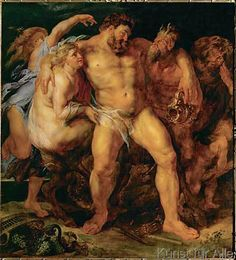 Peter Paul Rubens - Hercules, drunk, led by a nymph and a sa