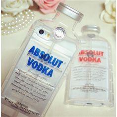 Coque iphone 6 plus : Bouteille de Vodka