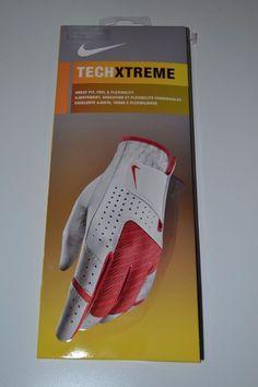 da33cd737e7 NEW NIKE GOLF Tech Xtreme Women s Left Glove White Red Size M 20cm NWT  Nike