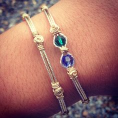 Wire wrapped Birthstone Bracelet Personalized by AmbersCrafts2, $30.00