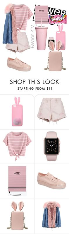 """Rabbit collection🐰🐇Beauitful💖Tnx my 400+followers😍"" by karinemarutyan ❤ liked on Polyvore featuring Miss Selfridge, Nobody Denim, Design Letters and Keds"