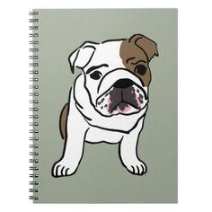 #Personalized English Bulldog Puppy Spiral Notebook - #bulldog #puppy #bulldogs #dog #dogs #pet #pets